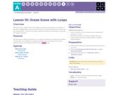 CS Fundamentals 1.10: Ocean Scene with Loops