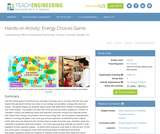 Energy Choices Game