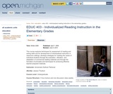 Individualized Reading Instruction in the Elementary Grades