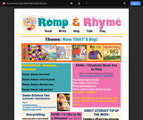 Romp & Rhyme Storytime Parent Activity Sheet: Now That's Big!
