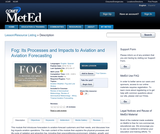 Fog: Its Processes and Impacts to Aviation and Aviation Forecasting