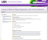 Using a Before-Rdg Organizer with Informational Text