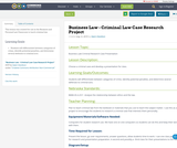 Business Law - Criminal Law Case Research Project