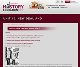 Reading Like a Historian, Unit 10: New Deal and World War II