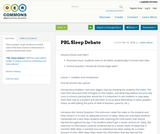 PBL Sleep Debate