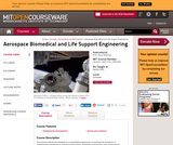 Aerospace Biomedical and Life Support Engineering, Spring 2006