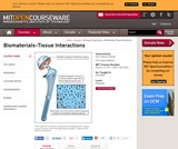 Biomaterials-Tissue Interactions, Fall 2009
