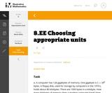 8.EE Choosing appropriate units