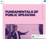 Fundamentals of Public Speaking