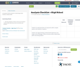 Analysis Checklist —High School