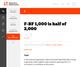 F-BF 1,000 is half of 2,000
