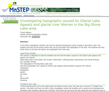 Investigating Topography Caused by Glacial Lake Agassiz and Glacial River Warren in the Big Stone Lake area