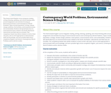Contemporary World Problems, Environmental Science & English