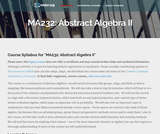 Abstract Algebra II