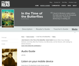 In the Time of the Butterflies by Julia Alvarez - Audio Guide