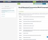 Pre-AP Simulated Conversation (World Language)