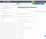 Biography Checklist—Elementary