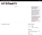 MIT Tech TV: Physics Demos