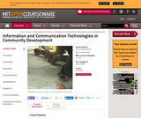 Information and Communication Technologies in Community Development, Spring 2004