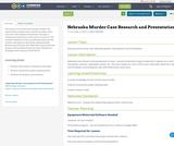 Nebraska Murder Case Research and Presentation