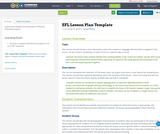 EFL Lesson Plan Template