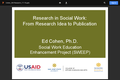 Research in Social Work: From Research Idea to Publication