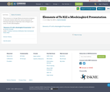 Elements of To Kill a Mockingbird Presentation