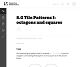 Tile Patterns I: Octagons and Squares