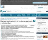 Managing Complexity: A Systems Approach - Introduction