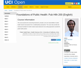 Foundations of Public Health: Pub Hlth 200 (English)