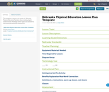 Nebraska Physical Education Lesson Plan Template