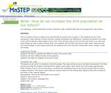 Birds:  How Do We Increase the Bird Population at our School?