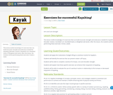 Exercises for successful Kayaking!