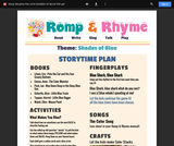 Romp & Rhyme Storytime Lesson Plan: Shades of Blue