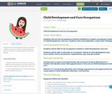 Child Development and Care Occupations