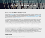 Risk Management (Business 404)