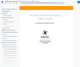 The Role of School Librarians in OER Curation: A Framework to Guide Practice