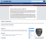 Artifact Classification (Archaeology)