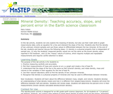 Mineral Density: Teaching Accuracy, Slope, and Percent Error in the Earth Science Classroom