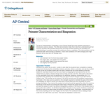 AP Central: Primate Characteristics and Exaptation