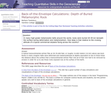 Back of the Envelope Calculations: Depth of Buried Metamorphic Rock