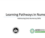 Learning Pathways in Numeracy