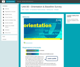 Orientation & Baseline Survey