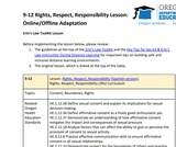9-12 Rights, Respect, Responsibility Lesson (Online/Offline Adaptation)