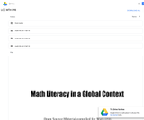 Math Literacy in a Global Context, Revised for Lane Community College