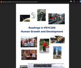 Readings in PSYC 2015: Human Growth and Development
