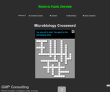 Microbiology Crossword Puzzle