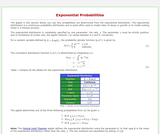 Exponential Probabilities
