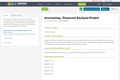 Accounting - Financial Analysis Project