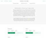 Mathematics: Focus by Grade Level